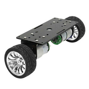 Two wheel Smart Robot Car Chassis Diy Kit With High precision Motor Silver