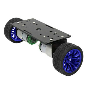 Two wheel Smart Robot Car Chassis Diy Kit With High precision Motor Blue