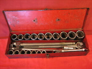 Vintage Wright Tools 3 4 Socket Set 24 Pcs