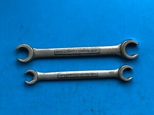 Vintage Craftsman V Flare Nut Wrenches Made In Usa