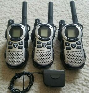 Motorola Talkabout Mt352tpr Gmrs Two Way Radio Walkie Talkie Lot Of 3