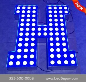 New Channel Letter 14 Led Pixel Lights Business Signage Custom Made