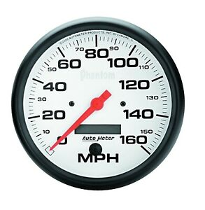 Autometer 5889 Phantom In dash Electric Speedo 5 160 Mph Resettable Odometer