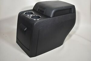 07 14 Lincoln Navigator Rear Center Console Compartment Arm Rest Armrest Black