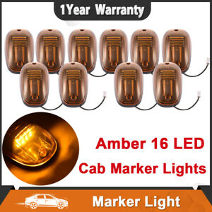 10x Amber Roof Running Cab Marker Light Clearance Lamp 16led For 03 18 Dodge Ram