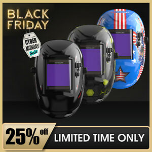 Extra Large Screen Pro Solar Welder Mask Tig Mig Auto Darkening Welding Helmet
