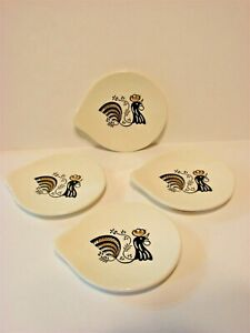 Mid Century Modern Rooster Snack Serving Dishes 4