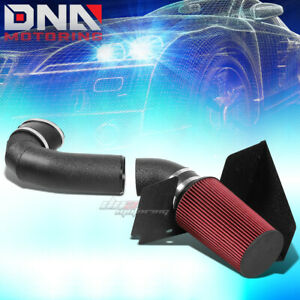 Wrinkle Coated Aluminum Cold Air Intake heat Shield For 05 09 Ford Mustang gt V8