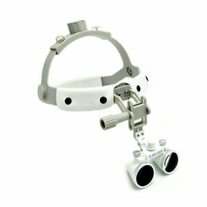 3 5x 280 380mm Magnifier Dental Surgical Headband Loupes Binocular Dy 108 White