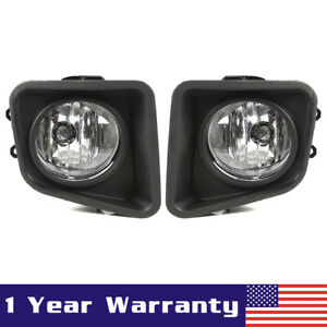 Pair Clear Lens Bumper Fog Driving Lights W Bracket For 2014 2019 Toyota Tundra