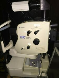 Retinal Camera Topcon Trc 50ex With Digital Imaging Software And Power Table