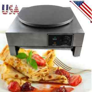 16 Heavy Duty Commercial Single Crepe Maker Electric Crepe Pan Maker Non stick
