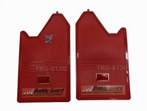1 Pair Splash Guard Mud Flap Red Color With Red Reflect For Universal Truck