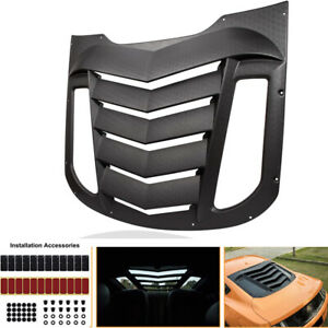 Textured Matte Black Abs Rear Window Louver Sun Shade Cover For Ford Mustang Gt