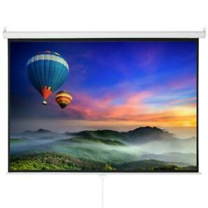 100 Hd 4 3 Projector Screen Projection Pull Down 1 3 Gain Wide Viewing Angle