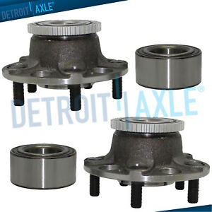 Fit Acura Tl Honda Accord W Abs 4pc Front Rear Wheel Hub And Bearing