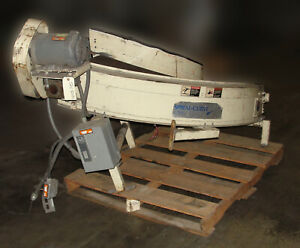 Portec Powered Belt Conveyor Inclined 90 Degree Turn Model Aa2214 Used