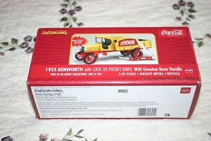 ERTL Collectible COCA COLA 1925 Kenworth With CASE XX POCKET KNIFE 2002
