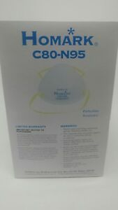 120 C80 n95 Particulate Respirator Mask 6 Boxes Of 20 By Homark Niosh Approved