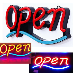 Remote Ultra Bright Jumbo Size Flash Motion Led Neon Open Business Sign Light