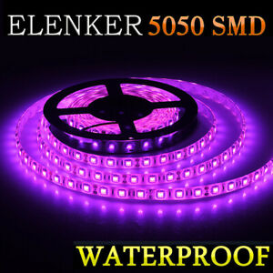 5050 Waterproof Led Strip Light 16ft For Boat Truck Rv Suv Car Rv Purple 5m