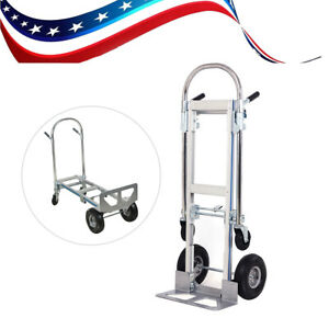 Multi use Heavy Duty Stair Climbing Moving Dolly Hand Truck Warehouse 4 Wheels