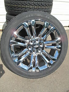 22 New Chevrolet Tahoe Silverado Suburban Chrome Rims 2854522 Nexe Tires 5666 C