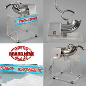 Commercial Snow Cone Maker Shaved Ice Machine Electric