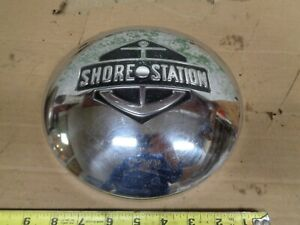 Vintage Shore Station Boat Trailer Hub Cap Hubcap Wheel Cover Anchor Man Cave 3