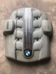 Bmw 04 10 E60 E63 E66 E53 Engine Motor Upper Top Cover Panel Logo Under Hood
