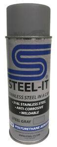 Steel It Stainless Steel Pigmented Paint Polyurethane 14oz Spray Can