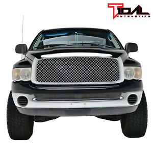 Tidal Upper Full Grill Chrome Replacement Grille For 03 05 Dodge Ram 2500