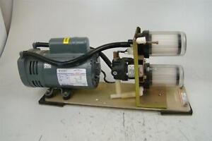 Gast 1 4hp Vacuum Pump With Filter And Regulator 220v 0523 p335 g5d9dax