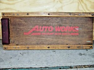 Vintage Auto Works Wood Creeper Auto Works Wooden Creeper Steel Wheels