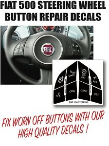 Fits Fiat 500 Steering Wheel Button Restore Decals Peeling Worn Button Fix