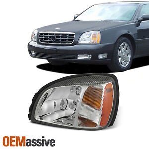 For 2000 2005 Cadillac Deville oe Style Headlight W Amber Side Driver Left