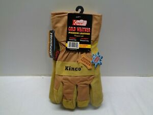 6 Pk New Kinco Cold Weather Pigskin Work Pw1958 Gloves Size Large Thermal Lined