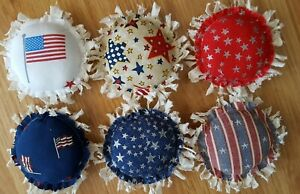 Primitive Americana Patriotic Flower Bowl Fillers Ornies Accents 6pcs