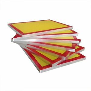 6 Pack 20 X 24 Aluminum Frame Silk Screen Printing Screens With 230 Mesh Count
