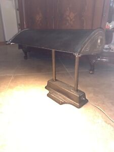 Industrial Antique Metal Bankers Electric Desk Lamp Wide 18 25 Tall 15 25