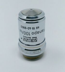 Zeiss Microscope Objective Planapo 100x 1 3 Oil Plan Apo 461940 9903