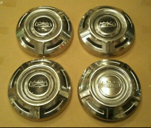 67 75 Ford 3 4 1 Ton Pickup Truck Stainless Dog Dish Hub Caps Chrome 68 69 70 71