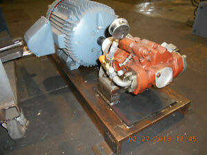40hp Hydraulic Piston Pump And 40hp Electric Motor