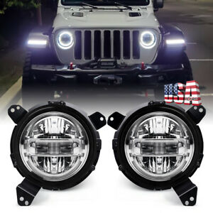 Dot Approved 7 Round Led Headlights Clear Lights For Jeep Wrangler Jl 2018 2019