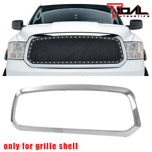 Tidal Chrome Surround Grille Grill Shell For 2013 2018 Dodge Ram 1500