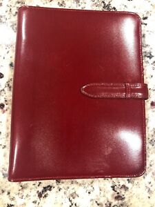 Franklin Covey Planner Dark Brick Red Leather 7 Ring Classic Planner 5 5 X 8 5