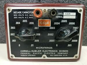 Cornell dubilier Decade Capacitor Box Model Cda 2 Vintage