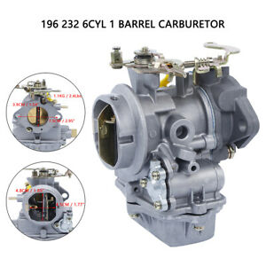 Us Carburetor Fit For Ford 1960 1968 144 170 200 223 6cyl 1904 Holley Type Carb