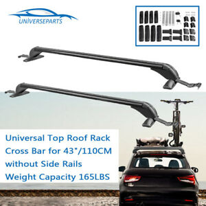 Universal Car Top Roof Rack Cross Bar For 43 110cm Without Side Rails 165lbs