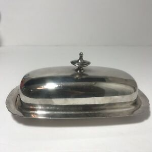 Reed And Barton Vintage Silver Plate Butter Dish No Glass Liner Stamped 5007